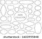 grand collection of frame. line ... | Shutterstock .eps vector #1603955848