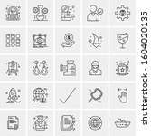 set of 25 universal business... | Shutterstock .eps vector #1604020135