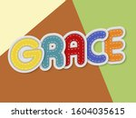 grace letters banner with...   Shutterstock .eps vector #1604035615