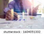 stock market or forex trading... | Shutterstock . vector #1604051332