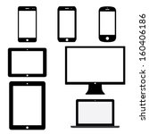 set of electronic devices with... | Shutterstock .eps vector #160406186