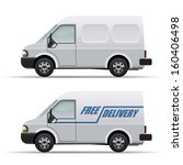 white delivery van realistic... | Shutterstock .eps vector #160406498