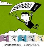 'golden parachute'. business... | Shutterstock .eps vector #160407278