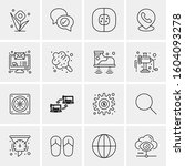 16 universal business icons... | Shutterstock .eps vector #1604093278