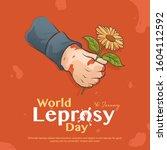 vector poster for world leprosy ...   Shutterstock .eps vector #1604112592