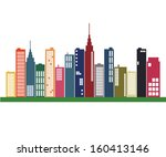 image of a colorful city... | Shutterstock .eps vector #160413146