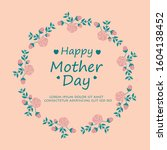 elegant happy mother day... | Shutterstock .eps vector #1604138452