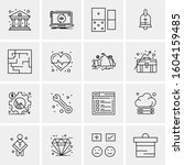 16 universal business icons...   Shutterstock .eps vector #1604159485