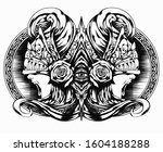 screaming valkyrie in an... | Shutterstock .eps vector #1604188288
