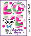 love t shirt graphics cute... | Shutterstock .eps vector #160427402