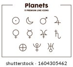 astrology signs thin line icons.... | Shutterstock .eps vector #1604305462