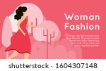 vector illustration woman...   Shutterstock .eps vector #1604307148