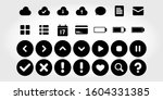 ui media flat icon solid style  ... | Shutterstock .eps vector #1604331385