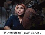 Diverse Female Industrial...