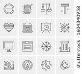 16 universal business icons... | Shutterstock .eps vector #1604340958