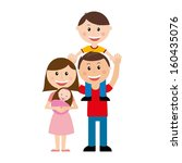 family design over  white... | Shutterstock .eps vector #160435076