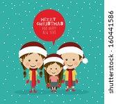 merry christmas  design over... | Shutterstock .eps vector #160441586