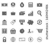 money icons on white background ...   Shutterstock .eps vector #160442486