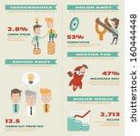 business infographics elements  ... | Shutterstock .eps vector #160444448