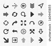 arrows icons set. vector... | Shutterstock .eps vector #160445855