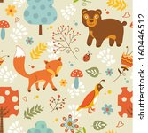 animal,autumn,backdrop,background,bear,cartoon,childish,color,colorful,cute,design,design element,eco,fabric,fall