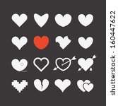 different abstract heart icons... | Shutterstock .eps vector #160447622