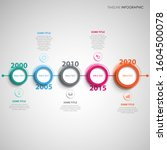 time line info graphic with...   Shutterstock .eps vector #1604500078