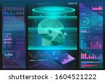 concept biometric scanning of... | Shutterstock .eps vector #1604521222