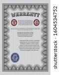 grey warranty template....   Shutterstock .eps vector #1604534752