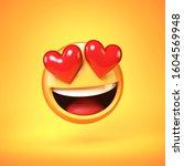 Falling In Love Emoji Isolated...
