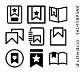 bookmark icon isolated sign...