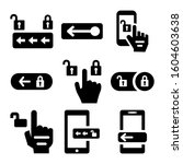 unlock slider left icon...