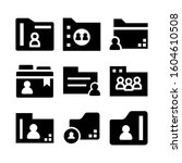 user folder icon isolated sign...