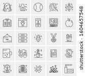 set of 25 universal business... | Shutterstock .eps vector #1604657548