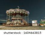 Carousel Against The Night Sky. ...