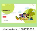 landing page friendship concept ...