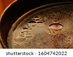 background with circles of used ... | Shutterstock . vector #1604742022