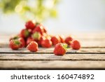 Strawberries On Garden's Table