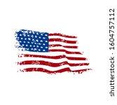 american flag grunge style... | Shutterstock . vector #1604757112