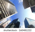 modern business buildings with... | Shutterstock . vector #160481222
