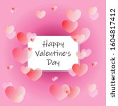 happy valentine's day greeting... | Shutterstock .eps vector #1604817412