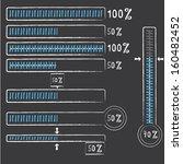 blue preloaders and progress... | Shutterstock .eps vector #160482452