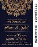 wedding invitation card and...   Shutterstock . vector #1604858812