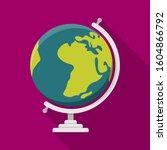 globe geography flat design...   Shutterstock .eps vector #1604866792