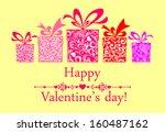 valentine's day card....   Shutterstock .eps vector #160487162