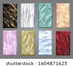 set of colorful marble covers... | Shutterstock . vector #1604871625