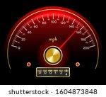 speedometer dashboard with... | Shutterstock . vector #1604873848