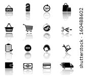 shopping icons  | Shutterstock .eps vector #160488602