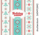 set of holiday ribbons | Shutterstock .eps vector #160491842