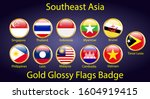 southeast asia flags in 3d... | Shutterstock .eps vector #1604919415